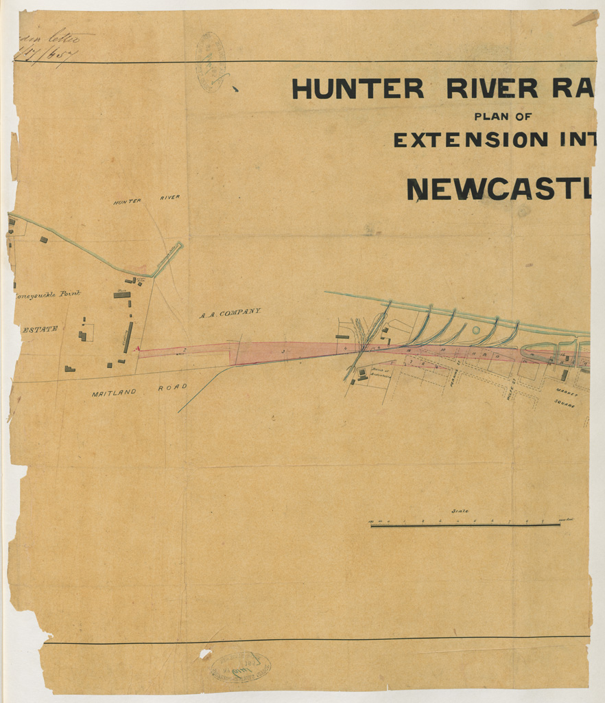 House Extensions Newcastle Hunter Valley: Newcastle - Hunter River Railway Plan Of Extension Into Newcastle [part 1] [Sketch Book 8]